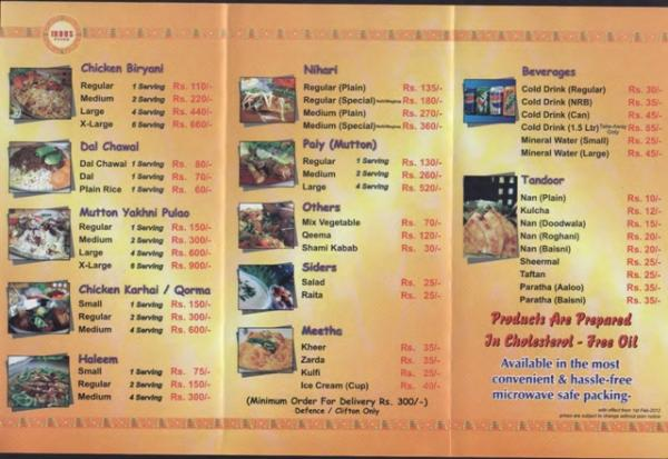 Indus Foods Number Karachi - Menu, Deals, Location & Offers 2016