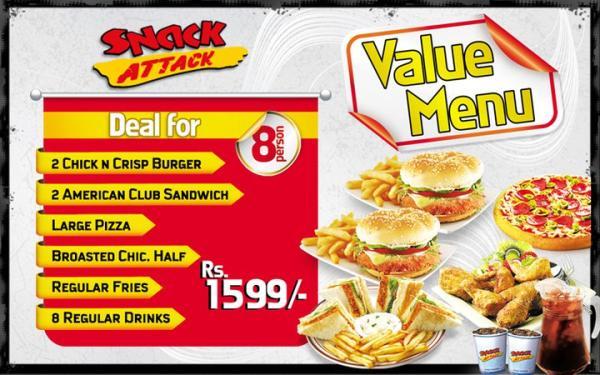 Snack Attack Number Karachi - Menu, Deals, Location & Offers 2016